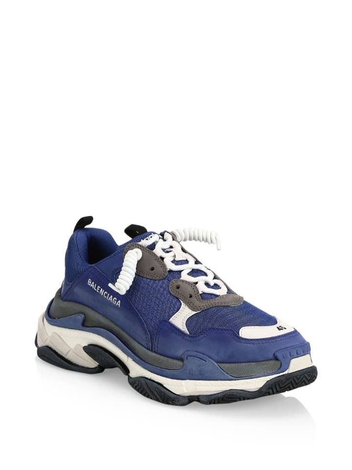 920b238e32e0f Balenciaga triple s navy | Shoes | Sneakers, Dad shoes, Shoes