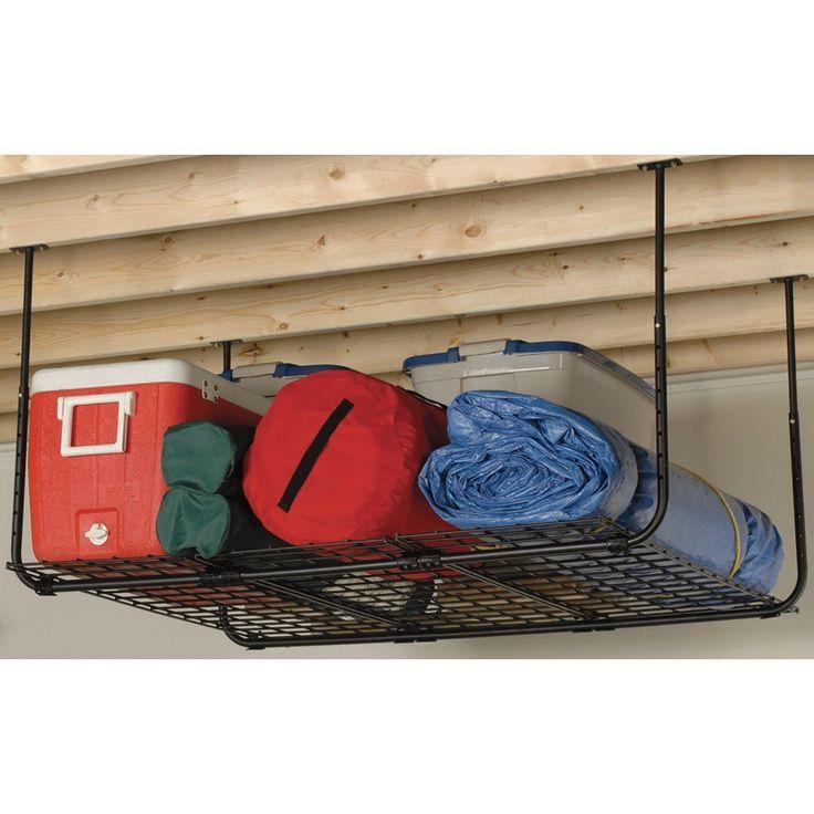 Diy Overhead Garage Shelf: 25+ Best Ideas About Garage Ceiling Storage On Pinterest