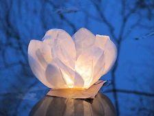 56x Wasserlaterne Lotusblüte Schwimmlicht Windlicht Wasserlaternen Party Kerze