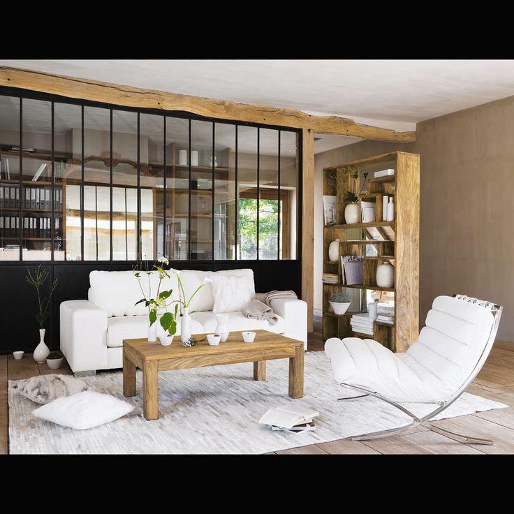 étagère en sheesham massif design tableliving room