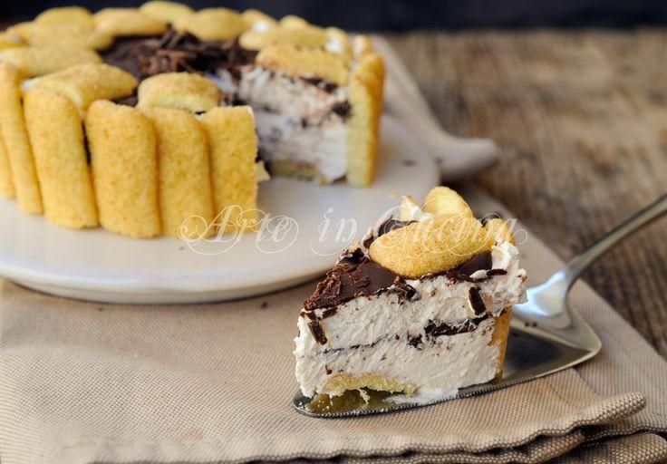 Crostata di pavesini fredda al cioccolato