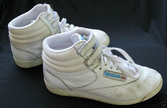 Reebok high tops to go with those slouch socks!
