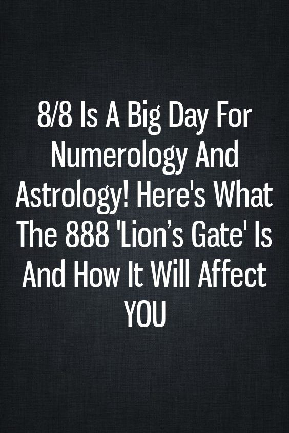 8 day in numerology