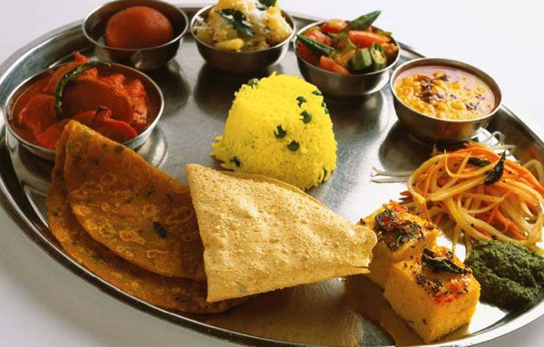 Thali a large plate with various indian food with 22 464 delicacies from the states of - Different indian cuisines ...