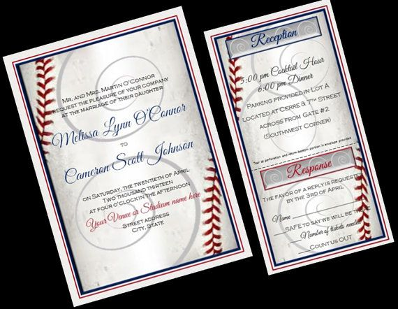 Baseball Wedding Invitation Sports Wedding by yourdayinvites, $2.75