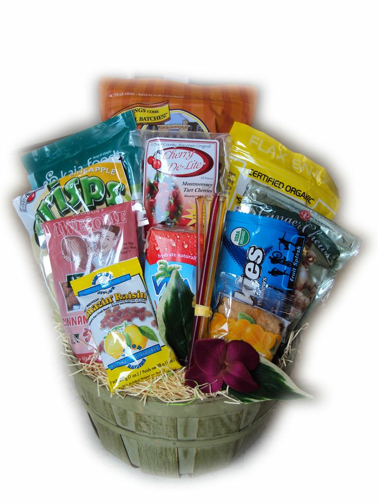 133 best gift baskets images on pinterest gift basket ideas runner healthy gift basket negle Choice Image