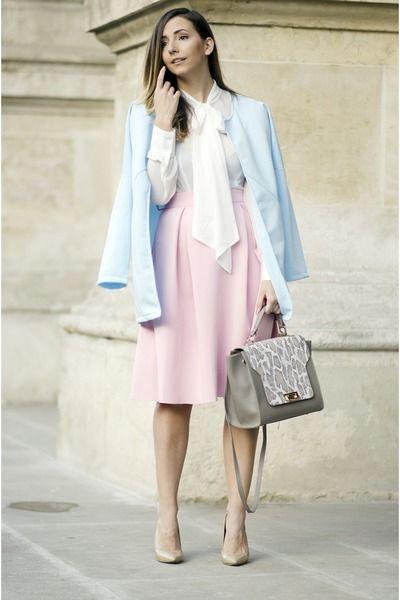 Modest Light Pink Skirt