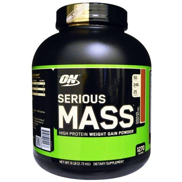 Optimum Nutrition, Serious Mass、高タンパク増量パウダー、チョコ・ピーナッツバター味、6 ポンド (2.72 kg)