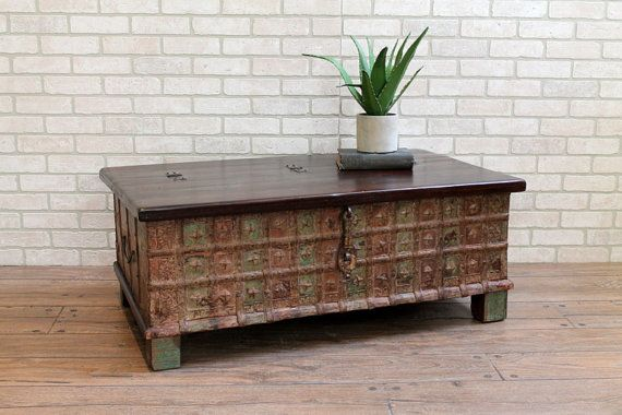 Coffee Table Reclaimed Pitara Trunk Table by hammerandhandimports