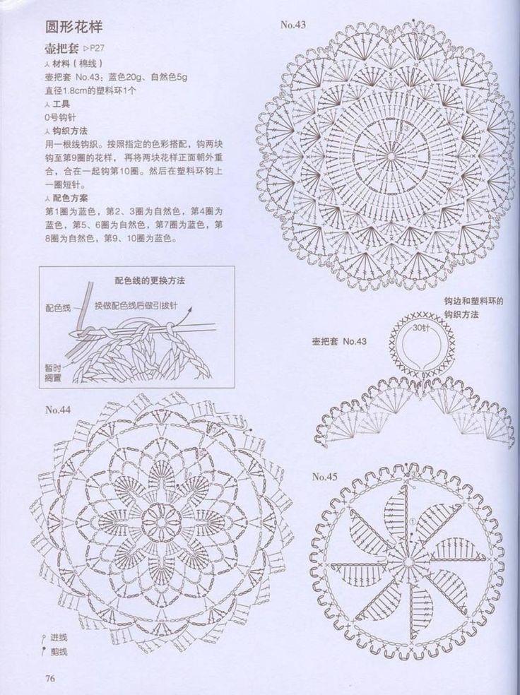 1110 best crochet diagrams stitch tutorials images on. Black Bedroom Furniture Sets. Home Design Ideas
