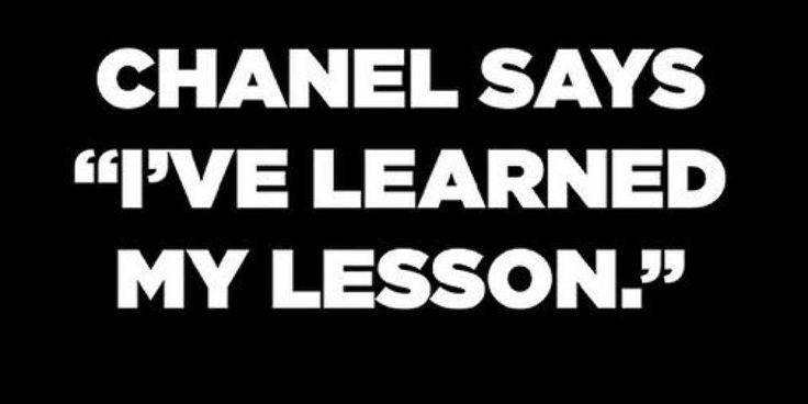 """Coco Chanel disse: """"Ho imparato la mia lezione"""""""