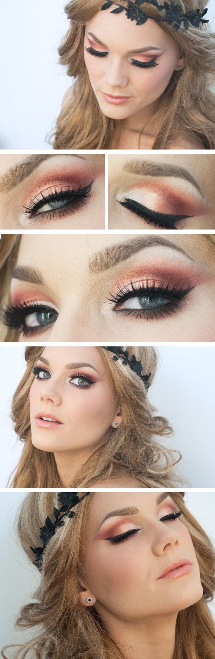 "Today's Look: ""Midsummer"" -Linda Hallberg (this is a scrumptious eye look perfect for summer, it just screams peaches and cream to me)04/08/13"