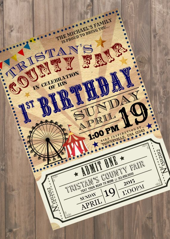Vintage County Fair Customizable Birthday by AlexHeartsCoffee