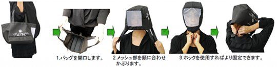 Grappa Eco Shopping Bag and Safety Helmet Emergency earthquake hood for head protection - When tin foil will not do.