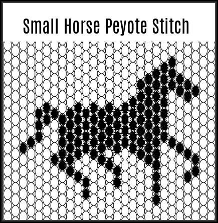 Small horse silhouette peyote pattern.