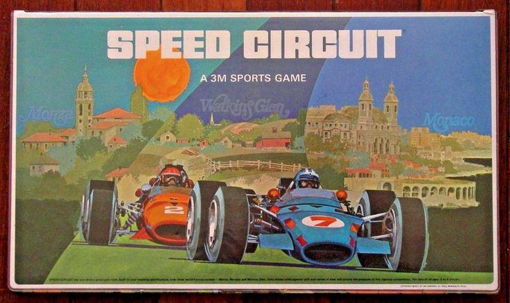 1st Ed. 1971 SPEED CIRCUIT Vintage 3M Sports Board Game Car Race Formula 1 USA #3M