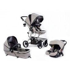 Baby Buggz Revo 3-in-1 Travel System African Grey