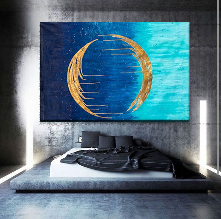 Golden Moon could look this good on your wall ;) This one is photo shopped to look bigger than it is...  commissions welcome.