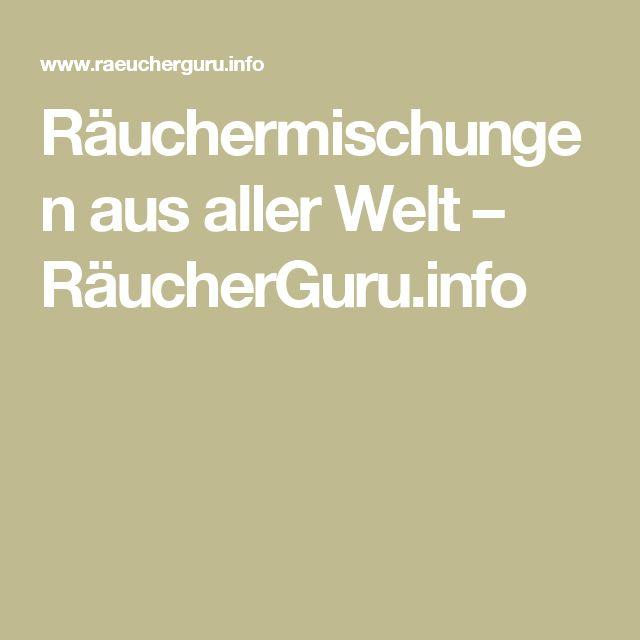 Räuchermischungen aus aller Welt – RäucherGuru.info