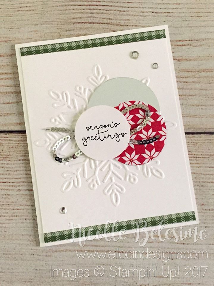 Seasons Greetings holiday card made with Winter