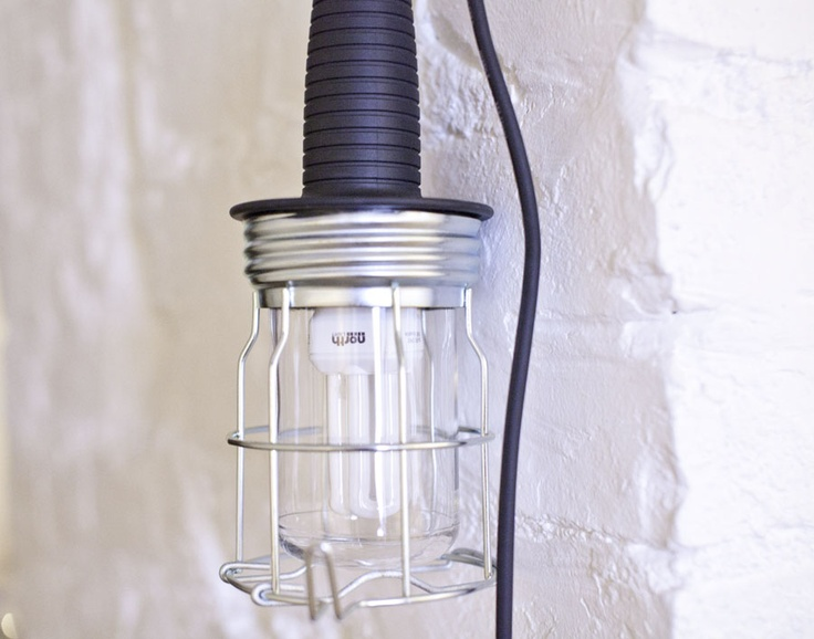 a cheap industrial lamp from Clas Ohlson, photo by Absolutely white