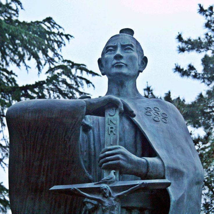 Il s'agit d'un ststue de Takayama Ukon qui se dresse devant le château de Takaoka dans la ville de Takaoka, préfecture de Toyama.