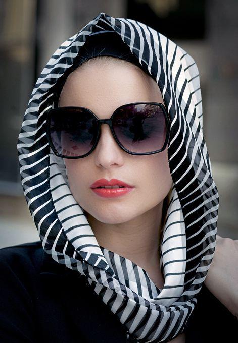 :::: ✿⊱╮☼ ☾ PINTEREST.COM christiancross ☀❤•♥•*[†] ::::Head scarf #terracottanewyork #stripescarf