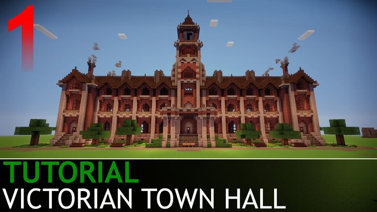 Minecraft Tutorials Victorian Town Hall Part 1 4