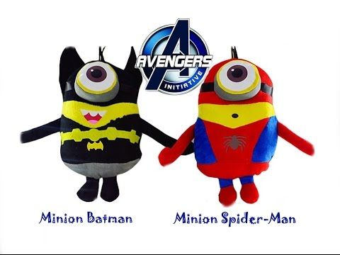 How to drawing - Minion Spider-man and Minion Batman (Avenger) [Bitly TV]
