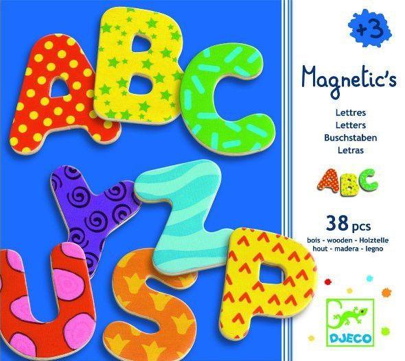 Magnetics Magnete ABC Buchstaben von Djeco für Kinder ab 3 Jahren - Bonuspunkte sammeln, Kauf auf Rechnung, DHL Blitzlieferung!