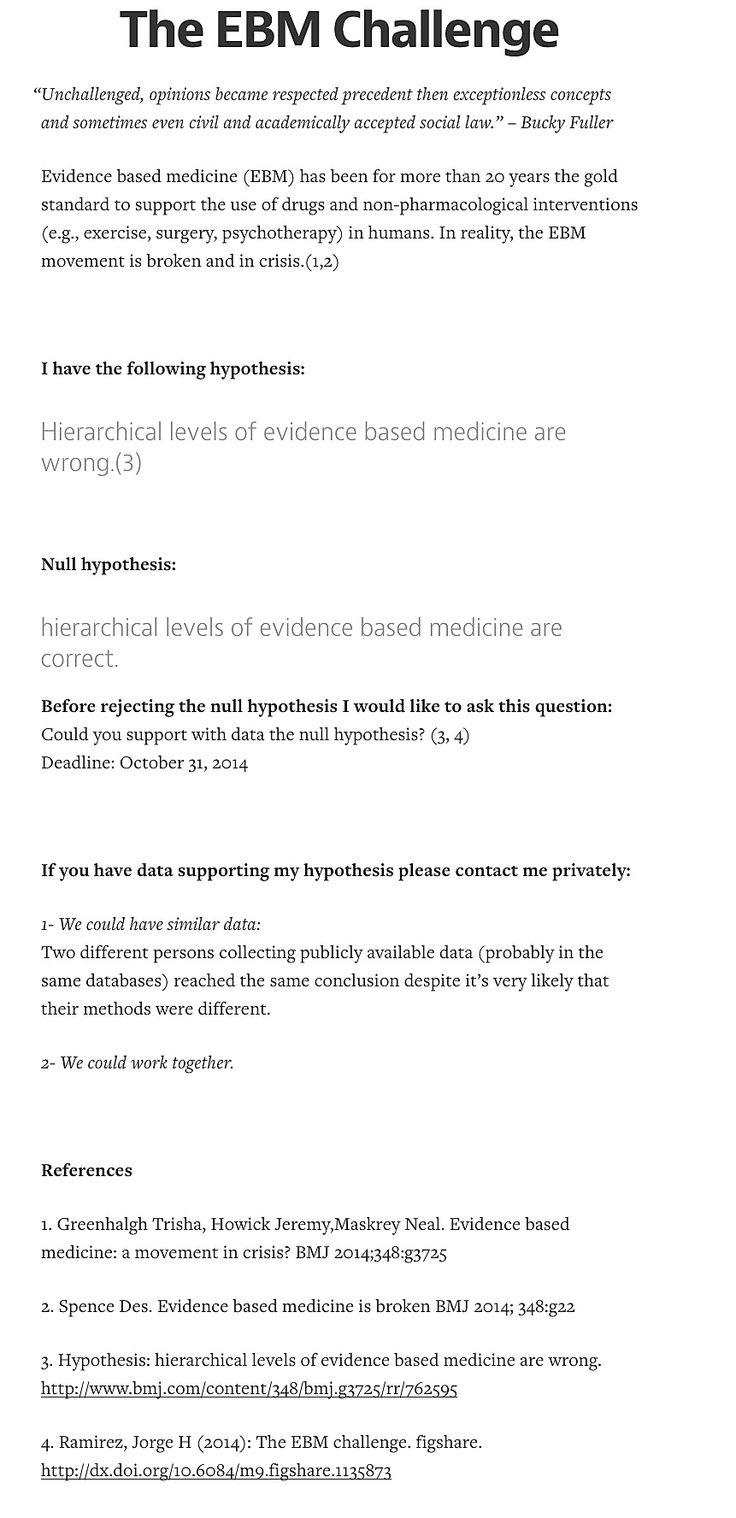 The EBM* challenge | * Evidence Based Medicine http://figshare.com/articles/The_EBM_challenge_Evidence_Based_Medicine/1135873