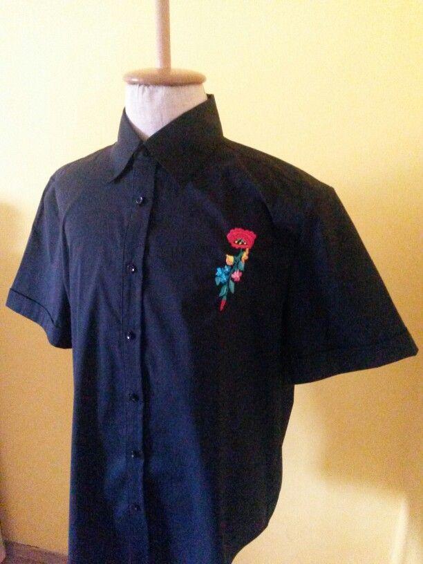 Hímzett férfi ing