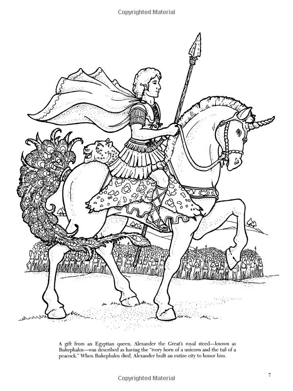 Detailed Unicorn Coloring Pages Sketch Coloring Page