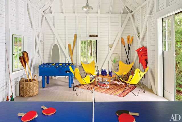 Thom Filicia gave one of the property's outbuildings a Pop Art attitude.