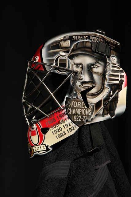 Left side Craig Anderson's Heritage mask