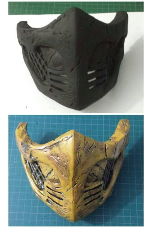 Scorpion mask WIP 2 (Mortal Kombat X) by AndresBellorin-ART.deviantart.com on @DeviantArt