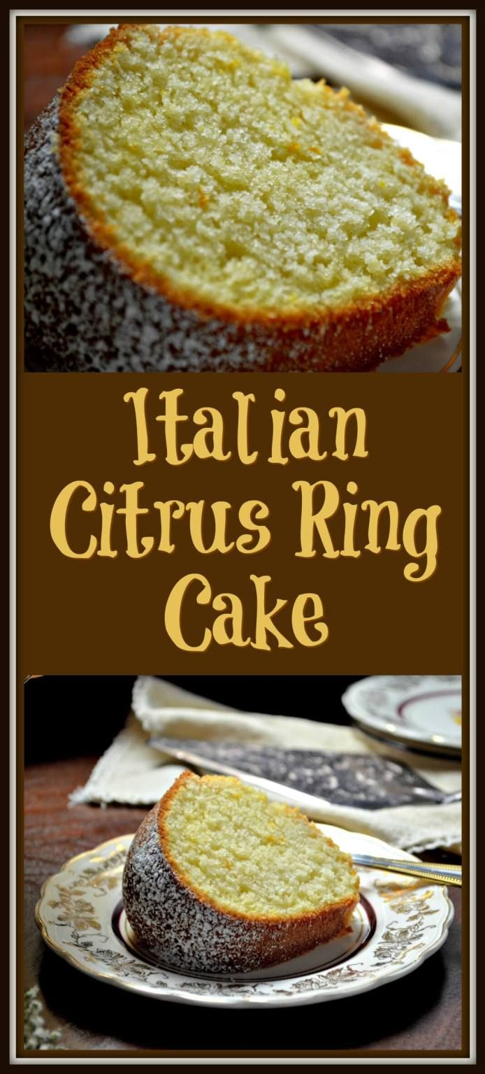 This Traditional Italian Citrus Ring Cake recipe, aka Ciambella, is a ring shaped sponge cake. Great with lots of fruit or to dunk in your morning coffee.