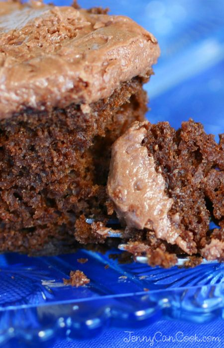 Sweet Potato Chocolate Cake recipe from Jenny Jones (JennyCanCook.com) - This healthy cake is made with canola oil and nutritious sweet potato - nobody has to know it's healthy, they'll think it's just the best chocolate cake ever!