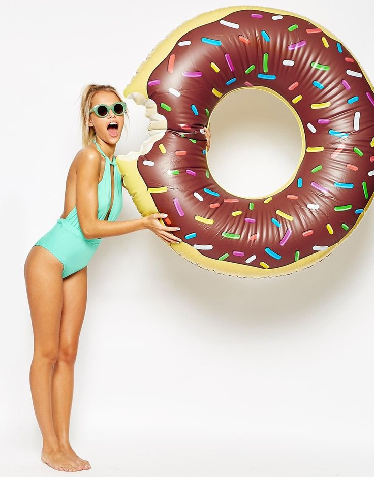 Amazing choice of pool inflatables available at ASOS, can't wait for summer! Big+Mouth+Chocolate+Donut+Pool+Float