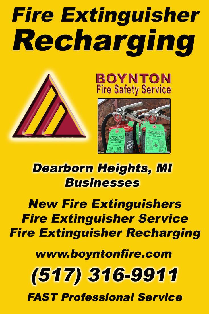 Fire Extinguisher Recharging Dearborn Heights, MI (517
