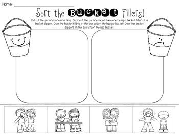 """Another pinner wrote,  """"I hope your little ones enjoy sorting the bucket fillers and bucket dippers! This makes an easy beginning of the year activity during a Bucket Fillers unit!  Thank you so much! :)  Please follow me so you can be updated as I add more products and freebies to my store :) I really appreciate your support! Thank you!  Check out my blog at: http://keepinitkoolinkinderland.blogspot.com  Feel free to email me at: Kool.In.Kinderland@gmail.com """""""