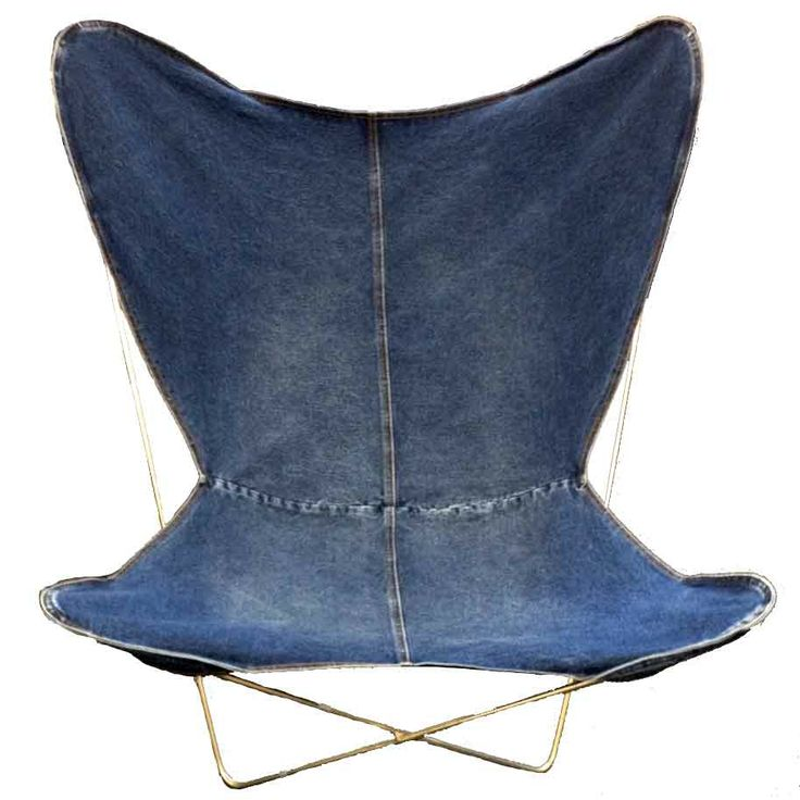 GOLDEN MONKEY VINTAGE WASH DENIM BUTTERFLY CHAIR COVER