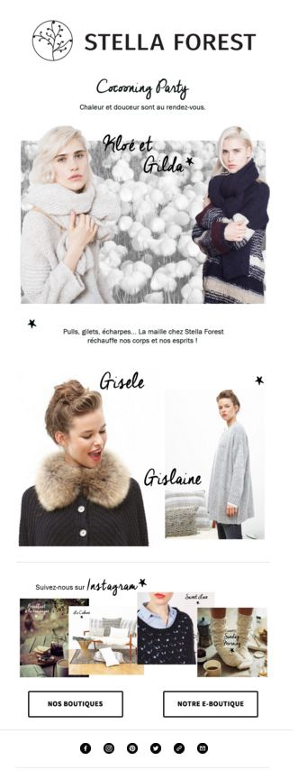 Newsletter Stella Forest Octobre #newsletter #stellaforest #cocooning #maille #pull #gilet #newcollection #fashion #instagram #knit #whool #mohair