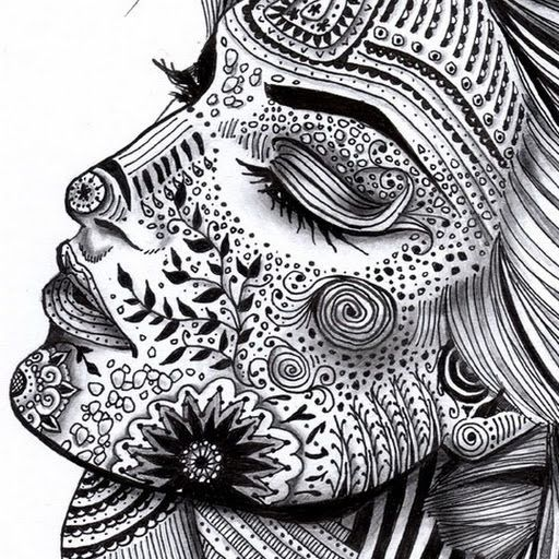 1000 images about zentangle on pinterest doodle for Doodle art faces