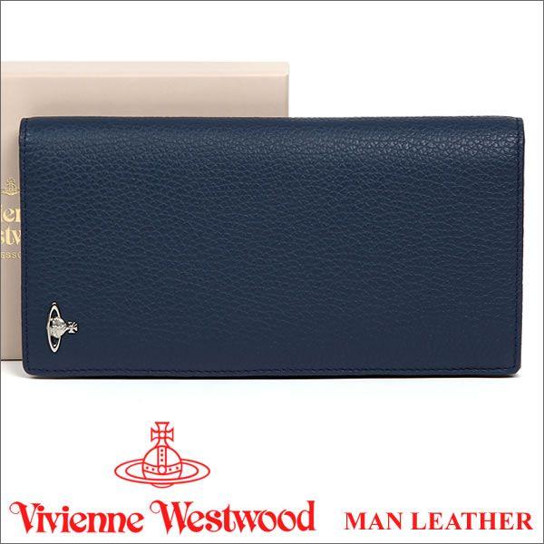ヴィヴィアン 長財布 ヴィヴィアンウエストウッド 財布(小銭入れなし) ブルー Vivienne Westwood 33167 MAN LEATHER BLUE 【02P11Apr15】 【RCP】 【あす楽】:楽天