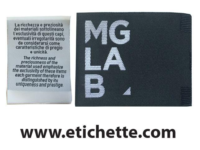 Etichette tessute a telaio