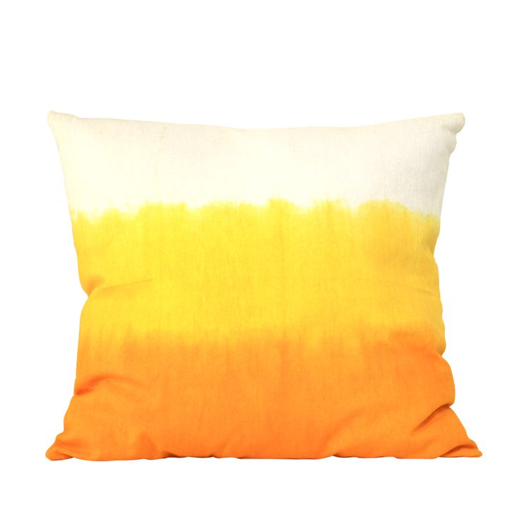 YELLOW OMBRE pillow #yellow #ombre #summer #birdsofparadisecollection