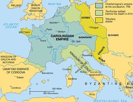 relationship between merovingian and carolingian
