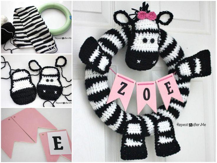 Zebra-Wreath-Free-Pattern