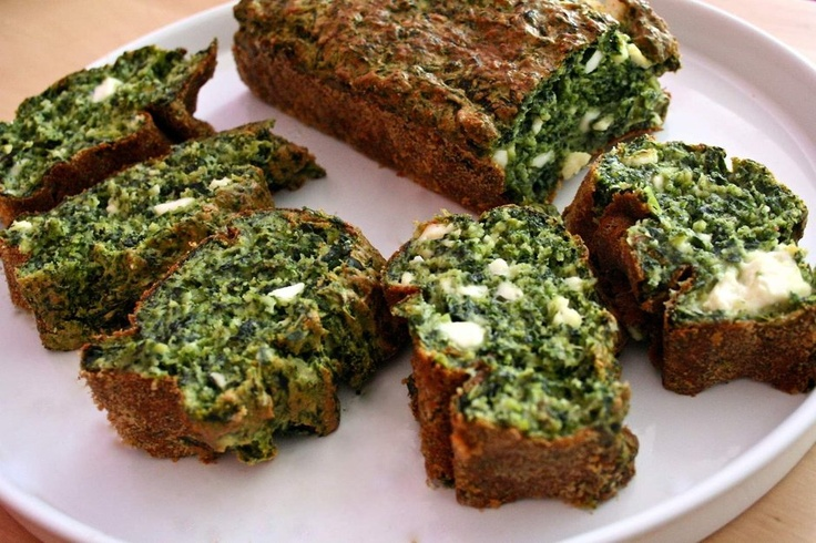 Plum cake alle verdure verdi e ricotta fresca
